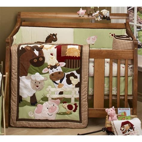 nojo farm babies crib bedding baby boy nursery