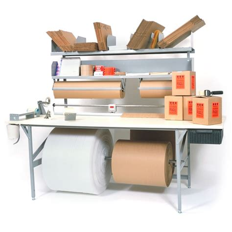 packing table with shelves standard packing table roll dispensers shipping