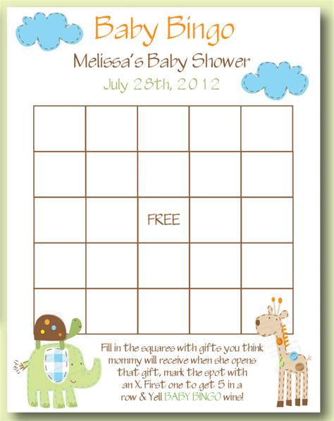 Baby Shower Bingo Generator Free - free baby shower bingo cards to print