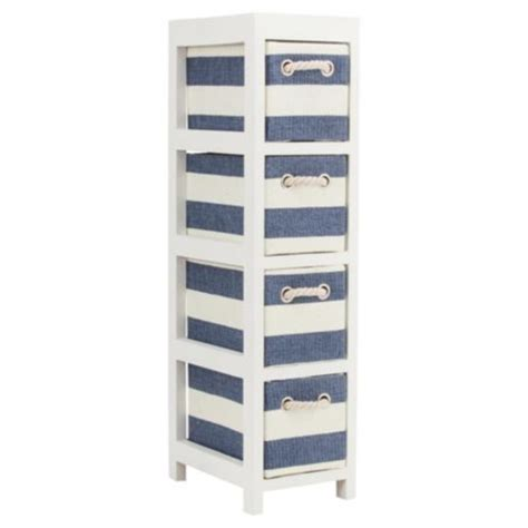 Nautical Bathroom Storage Nautical Canvas 4 Drawer Storage Unit House No Home Pinterest