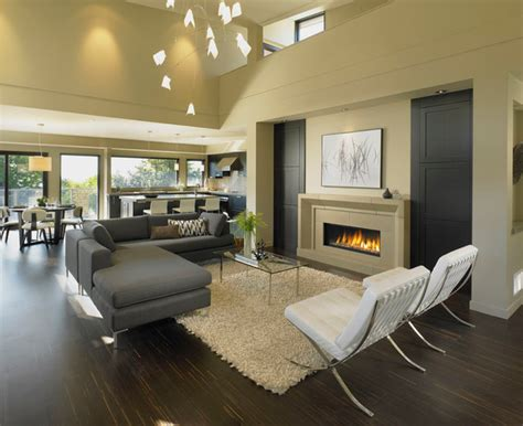 open concept dining and living room open concept living dining modern living room vancouver by my house design build team