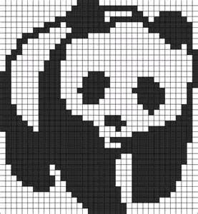 panda pixel template pandas perler bead patterns and bead patterns on