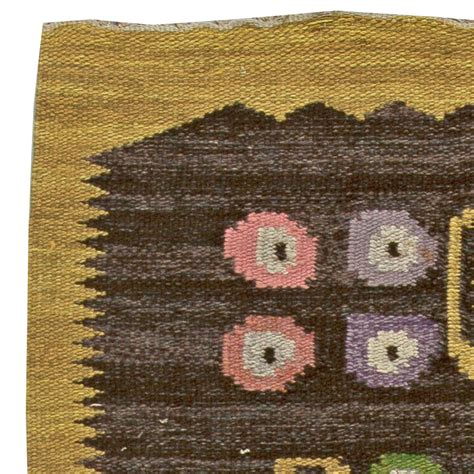 signed rugs swedish vintage rug signed by sw bb5908 by doris leslie blau