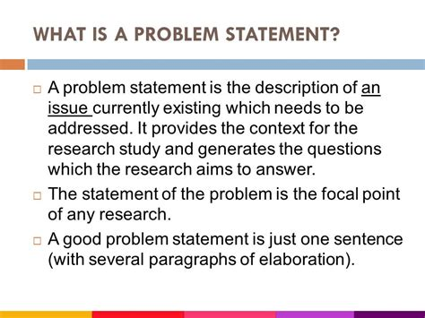 what is problem statement in research paper what is a problem statement in a research paper 28