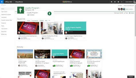 New Capabilities In Sharepoint Online Team Sites Including Integration With Office 365 Groups Sharepoint Home Page Templates
