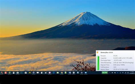 display battery percentage   taskbar  windows  pureinfotech