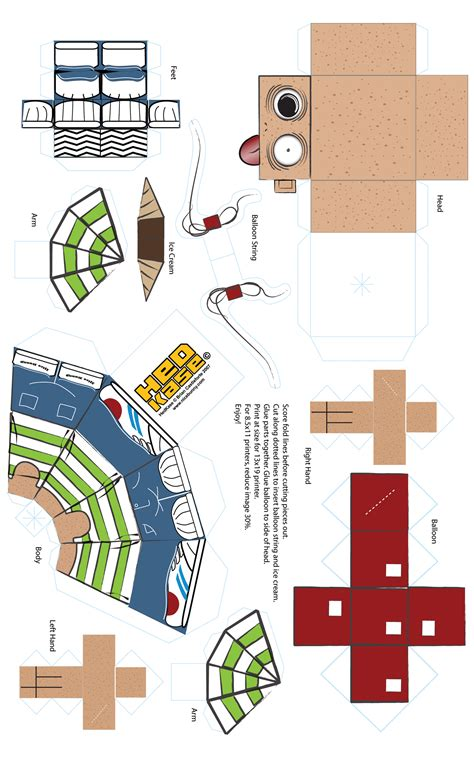 Paper Craft Templates Free - 5 best images of free printable papercraft templates