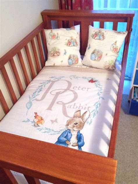 rabbit cot quilt and pillows set beatrix potter