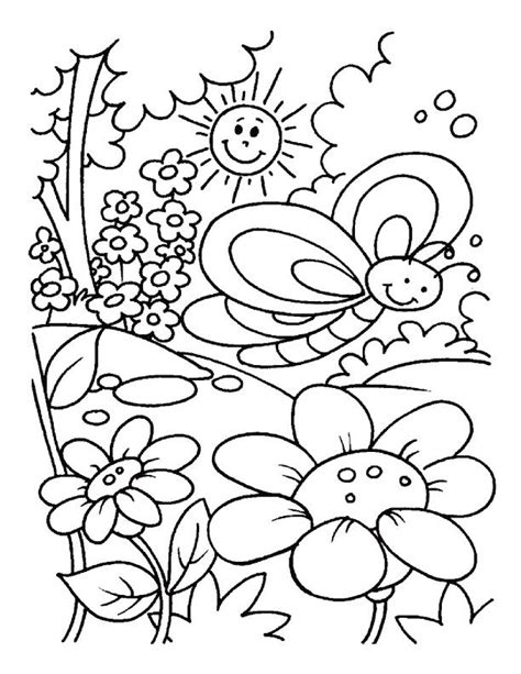 spring coloring sheets 25 best ideas about spring coloring pages on pinterest