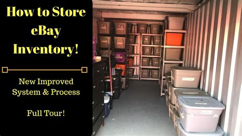 ebay warehouse how i store my ebay inventory the new and improved