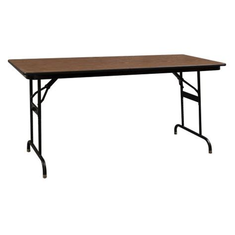 Ki Heritage Adjustable Height Used Folding Table 30x72 Walnut Used Adjustable Height Desk