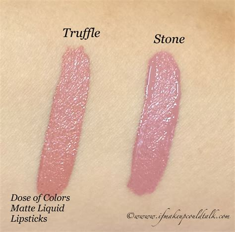 truffle color dose of colors truffle and matte liquid lipstick