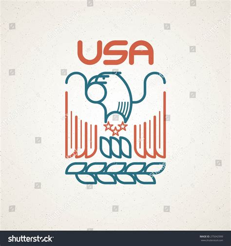 made in the usa symbol made usa symbol american flag eagle stock vector 275042999