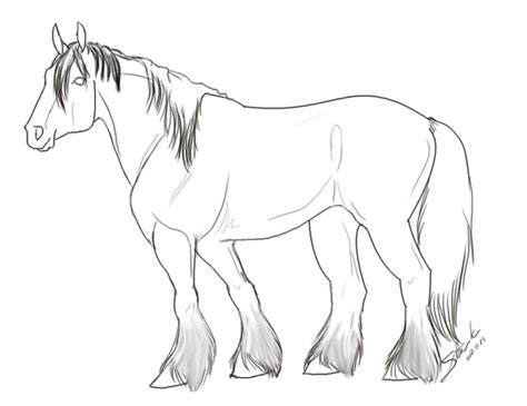 draft horse colouring pages