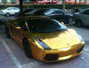Real Gold Lamborghini Lamborghini Gallardo In Gold Spotted In Beijing Luxuryes