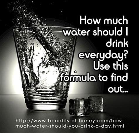 how much water should you drink a day use this formula