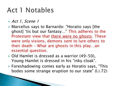 themes in hamlet act 2 scene 2 themes in hamlet act 1 and 2 hamlet notes and quotes ppt