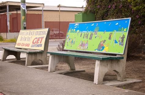 bench advertising anti advertising agency bus stop bench