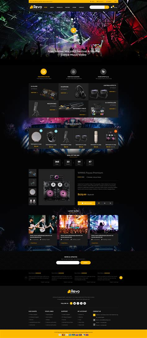 themes live mobile revo universal woocommerce wordpress theme with mobile