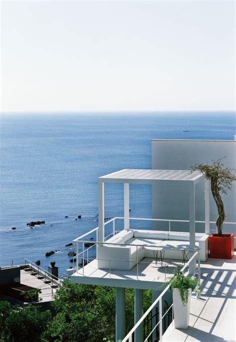 beautiful house overlooking  ocean