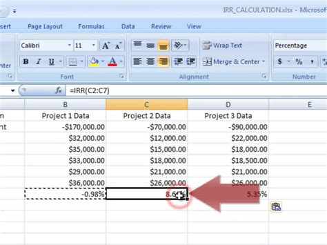 Irr Spreadsheet by How To Calculate An Irr On Excel 10 Steps With Pictures
