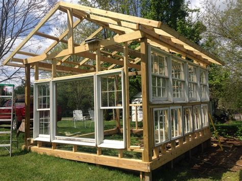 Kitchen Islands Pinterest by Building A Greenhouse From Old Windows Hometalk