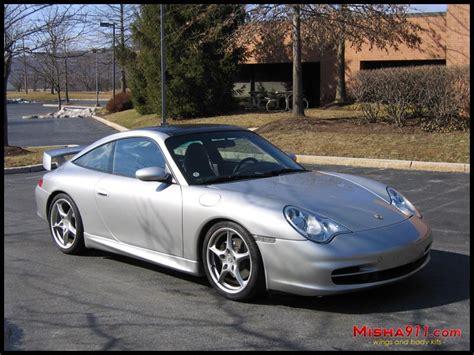 misha gt2m wing on silver porsche 996 targa