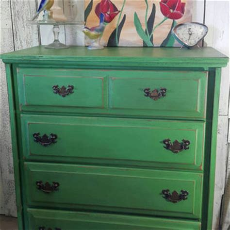 Painted Green Dresser by Shop Chalk Painted Dressers On Wanelo