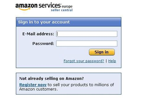amazon uk login how to setup amazon sellercentral to use with one stop