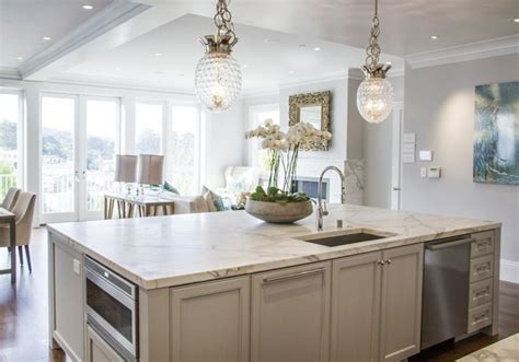 light grey kitchen cabinets global views crown pendant transitional kitchen marsh and clark