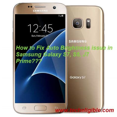 Samsung S7 Prime How To Fix Auto Brightness Issue In Samsung Galaxy S7 S5