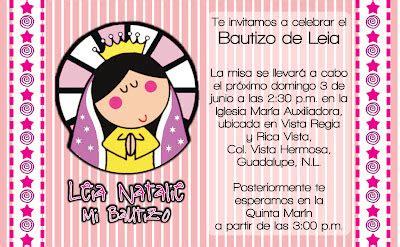 virgencita plis invitaciones de bautizo hi mia junio 2012