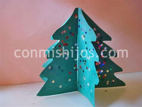 193 rbol de navidad en 3d manualidades infantiles con cartulina