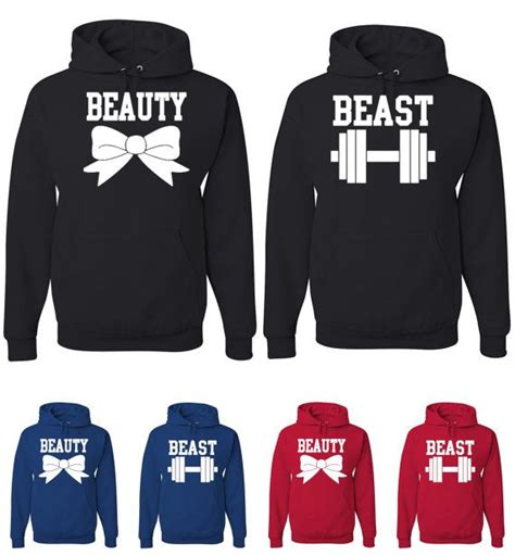 Matching Sweatshirts For Boyfriend And Matching And Beast Hoodies Great