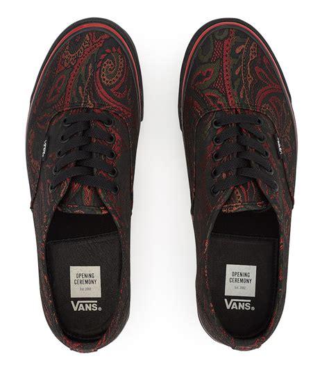 paisley pattern vans opening ceremony vans authentic paisley pack sneaker bar