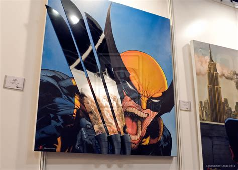 drawing and painting 3d painting wolverine by legendarymagic on deviantart