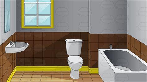 inside a modern toilet cartoon clipart vector toons