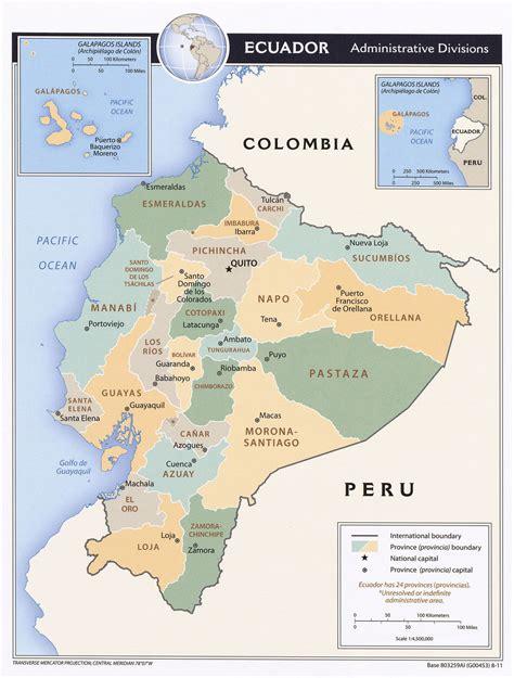 ecuador on map ecuador maps perry casta 241 eda map collection ut library