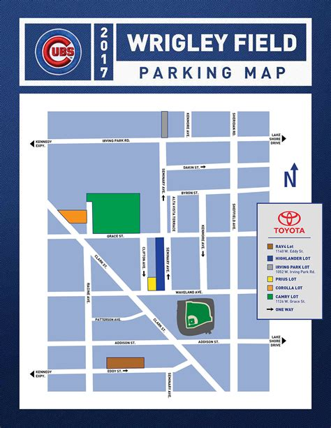 wrigley field parking maps tips rates