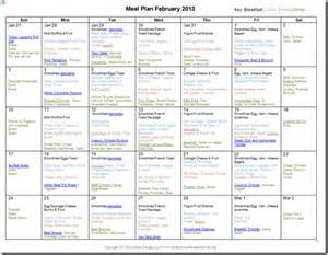 Monthly Meal Plan Template by February 2013 Monthly Meal Plan Confessions Of A