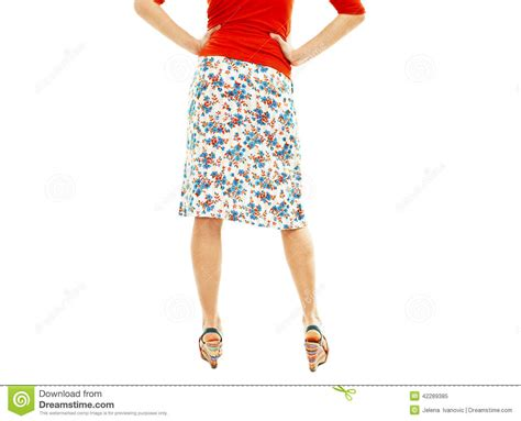 Fro Wedges Fashion Wedges Jepit Coklat wearing floral skirt and striped sandals fro stock photo image 42289385