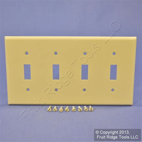 4 light switch cover leviton ivory 4 toggle light switch cover wall plate