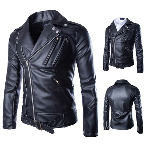 Hoodie Zipper Badboy s faux leather zipper motorcycle jacket 101980