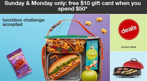 Target 10 Gift Card When You Spend 50 - target free 10 target gift card when you spend 50 in groceries today sept 5th