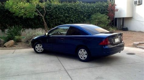 honda civic 2003 2 door coupe sell used 2003 honda civic lx 2 door coupe stick shift blue in sacramento california