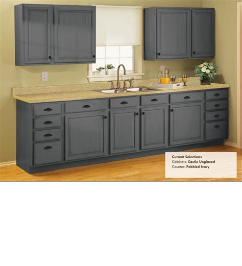 good grey color kitchen cabinets castle unglazed light counter good contrast like the