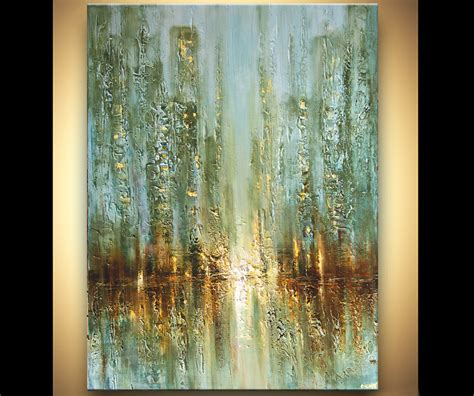 abstract textured paintings modern contemporary palette knife abstract city painting