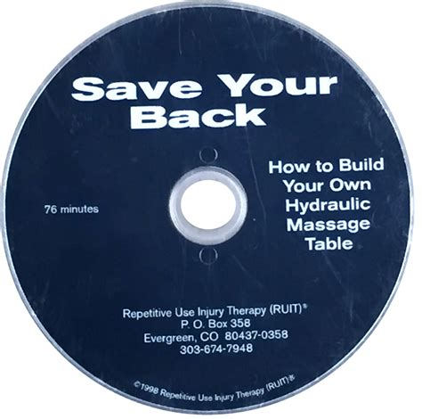 how to build a therapy table save your back how to build your own hydraulic