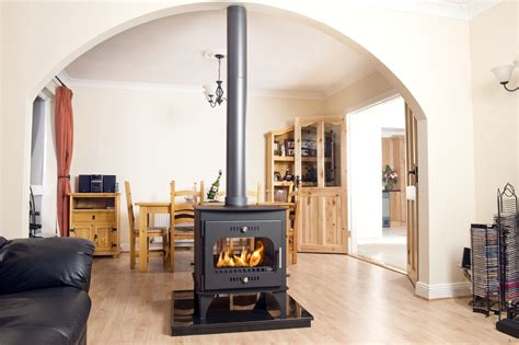 Two Fireplaces One Chimney by Carraig Mor Sided Single Depth Stove