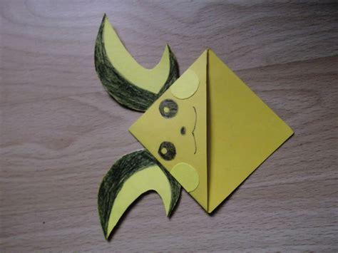 Origami Raichu - a raichu bookmark diy corner bookmark page markers